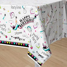 Doodle Birthday Tablecover