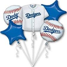 Dodgers Balloon Bouquet