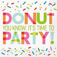 Donut Party Bev. Napkin