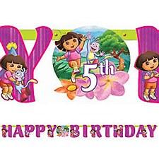 Dora The Explorer Cuztomizable Birthday Banner