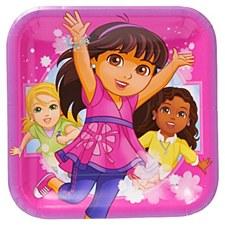 "Dora & Friends 9""Plates"