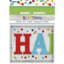 Foil Birthday Dot Confetti Banner
