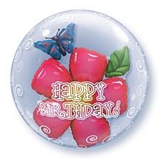 """24"""" Birthday Double Bubble Balloon"""