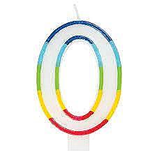 #0 Multicolor Birthday Candle