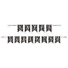 Printed Confetti Birthday Banner