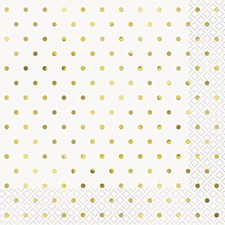 Elegant Gold Dots Lunch Napkin