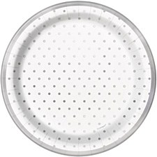 Elegant Silver Dots 7in Plate