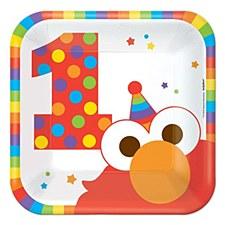 "Elmo Turns One 7""Plates"