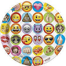 "9""Emoji Plates"