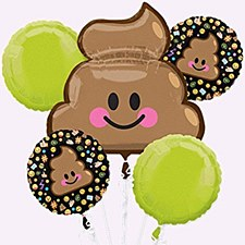Emoji Poop Balloon Bouquet