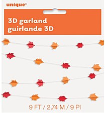 3D Garland Fall Leaves