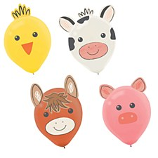 Farm Animal Latex Balloon Kit