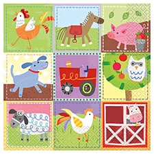 Farm Party Lunch Napkins