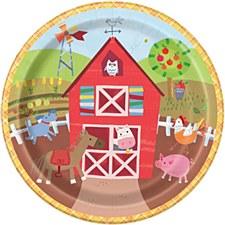 "Farm Party 9""Plates"