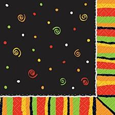 16ct Bev Napkins Fiesta Stripes