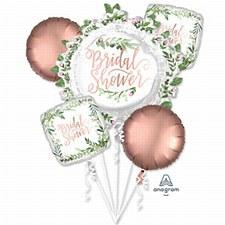 Floral Bridal Shower Balloon Bouquet