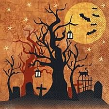 Full Moon Halloween Napkin Small