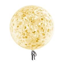 Transparent Funny Bubble Balloon With Gold Foil Confetti
