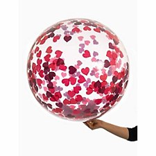 Funny Bubble Balloon with Red Confetti