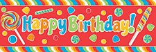 Sugar Happy Birthday Banner