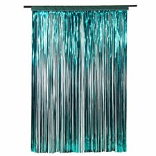 Teal Metallic Curtain