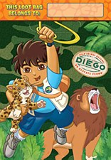 Diego's Biggest Rescue Folded Loot Bags - Plastic