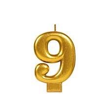 #9 Gold Metallic Candle
