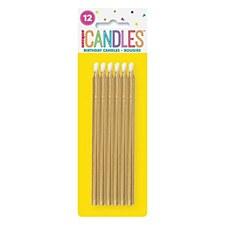 Long Golden Candles