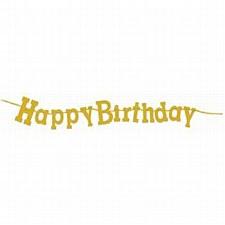 Happy Birthday Diamond Glitter Happy Birthday Banner