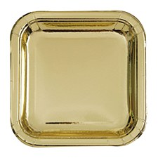 """7"""" Gold Squer Plate"""