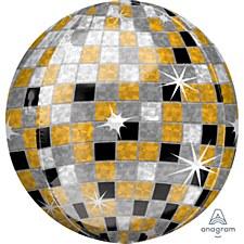 """16""""Gold/Silver/Black Disco Ball Orbz"""