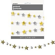 Gold & Silver Star Garland