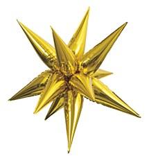 """Gold 27.5"""" Star Burst Balloon"""