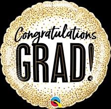 18' Congratulations Grad! Glitter Dots