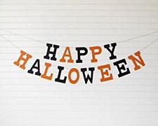 Halloween Letter Banner
