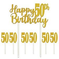 Happy 50th Birthday Cake Topper