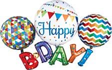 """56"""" Happy B-D-A-Y Multi-Balloon"""