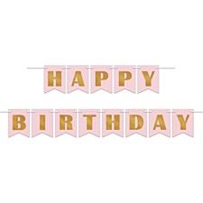 Rose Gold Birthday Foil Streamer