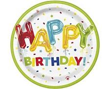 "Happy Balloon Birthday 7"" Plate"