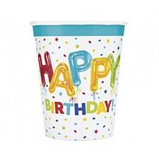 Happy Balloon Bithday Birthday Cups