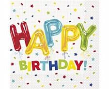 Happy Balloon Birthday Lunch Napkin