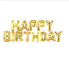 Gold Happy Birthday Banner Kit