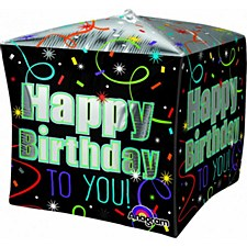"15""Brilliant Birthday Cubez"