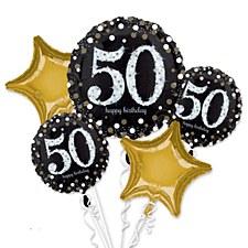 Sparkling 50th Birthday Bouquet
