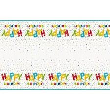 Happy Ballooon Birthday Tablecover