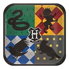 "Harry Potter 7"" Square Plates"
