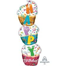 "41"" Birthday Stacked Cupcake"