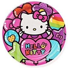 """Hello Kitty Rainbow 9""""Plates"""