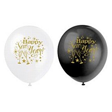 Happy New Year Latex Ballone