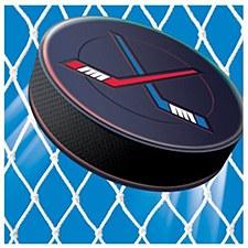 Hockey Bev. Napkin 16c.